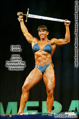 Candy Canary women's bodybuilding champion