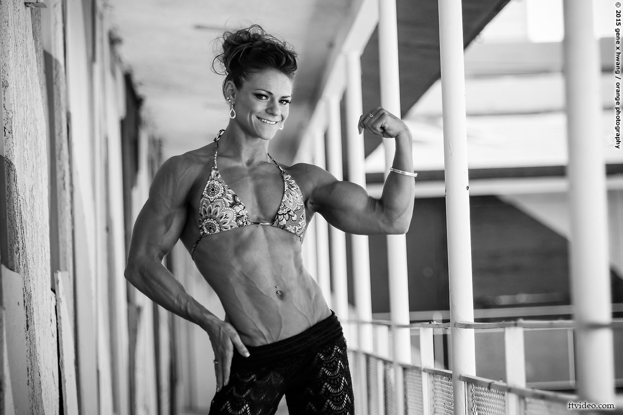 Chelsey Coleman flexing